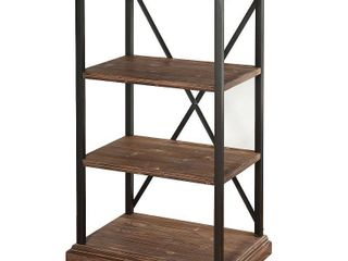 StyleCraft Archer Ridge Four Tier Driftwood Grey Bookcase  Retail 278 99