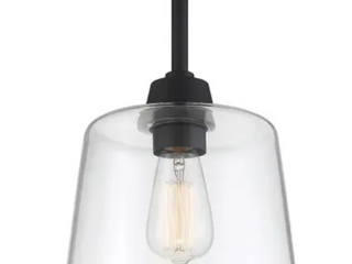 Trade Winds Templeton Glass Ceiling light In Matte Black