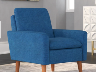 Blue Carson Carrington Prato Modern Arm Chair  Retail 183 49