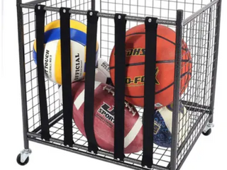 Rolling Sports Ball Storage Cart Garage Storage Garage Organizer  Retail 95 99