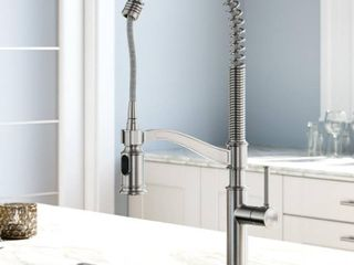 Sellette Commercial Style Pull Down Kitchen Faucet in Spot Free Stainless Steel