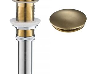 Brushed Gold KRAUS Pop Up Drain