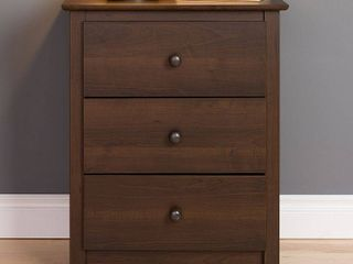 Prepac Fremont 3 Drawer Tall Nightstand  Espresso