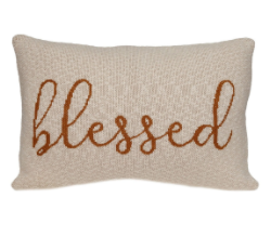 Parkland Collection Blessed Transitional Beige Throw Pillow Pilk21146p