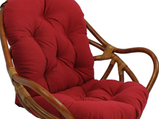 Blazing Needles 48 inch Solid Swivel Rocker Cushion