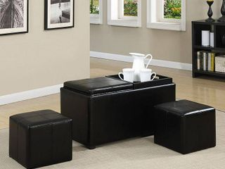 Simpli Home Avalon 5 Piece Storage Ottoman