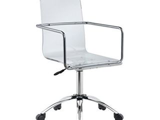 Amaturo Acrylic Office Chair Clear and Chrome