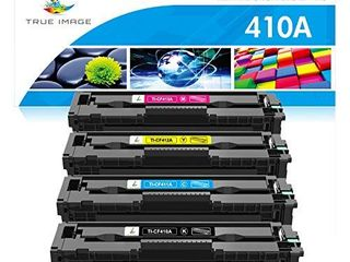 TRUE IMAGE Compatible Toner Cartridge Replacement for HP 410A CF410A CF411A CF412A CF413A Color laserjet Pro MFP M477fnw M477fdw M477fdn M452dn M452nw M477 Toner  Black Cyan Yellow Magenta  4 Pack