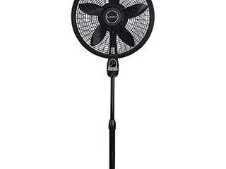 lasko 1843 18 Remote Control Cyclone Pedestal Fan with Built in Timer  Black Features Oscillating Movement and Adjustable Height