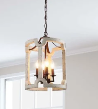Taupe The Gray Barn Hillock Corner 4 light lantern Pendant lighting  Retail 269 99