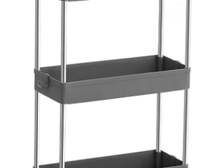 3 Tier Rolling Rack Shelves Kitchen Bathroom Storage Utility Cart
