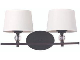 Maxim Bronze 2 light Rondo Bath Vanity light  Retail 174 00