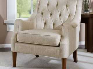 Cassie Button Tufted Accent Chair Cream  Retail 288 87