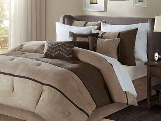 Home Essence Overland 6 Piece Faux Suede Duvet Set