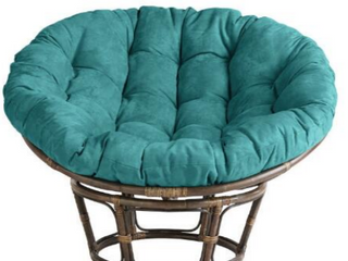 Teal Blazing Needles 52 inch Microsuede Papasan Cushion Retail  89 99