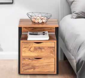 19  Steel Frame Nightstands Elegant Bedside Table with Drawer