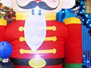 Inflatable Kinbor 6Ft Christmas Inflatable Nutcracker Soldier Indoor Outdoor Air Blown Garden Yard Party Decoration