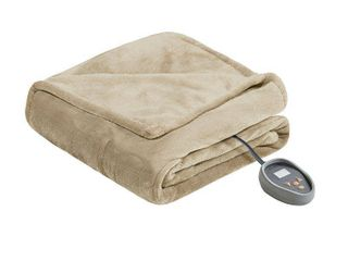 Beautyrest Heated Microlight to Berber Solid Blanket