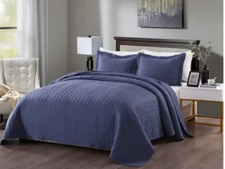 Porch   Den Heightsview Prewashed lightweight 3 piece Quilted Bedspread Set
