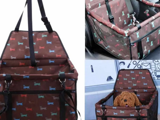 Dog Car Seat Brown