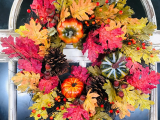 Pumpkin Pinecone Wreath 24