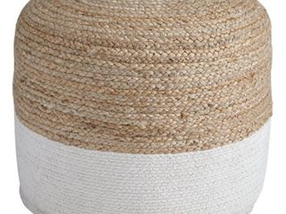 Sweed Valley Natural White Pouf  Retail 92 49
