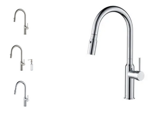 High Arc Pull Out Single level lead Free Brass Kitchen Faucet with Sprayer and Magnetic Docking  Retail 213 49