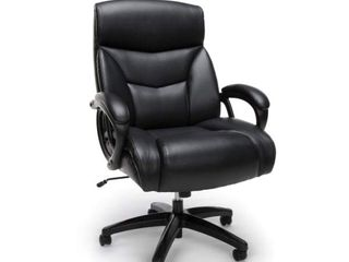 OFM Essentials Collection Big and Tall Executive Bonded leather Chair  in Black  ESS 6040 BlK