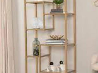 Jensen Metal Asymmetrical Display Bookcase Etagere  Retail 298 99