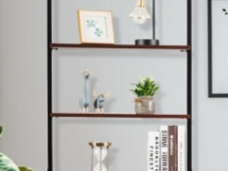 5 Tiers Industrial ladder Shelf Storage Rack Shelf Brown  Retail 79 98