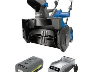 Snow Joe Cordless Snow Thrower   Blue  18