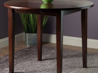 Clayton Walnut Round Drop leaf Dining Table  Retail 156 49