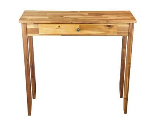 Natural  Porch   Den Holly Hill Solid Acacia 1 drawer Console Table