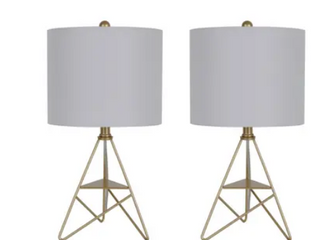 Set of 2 Dawson Geometric Metal Accent lamps