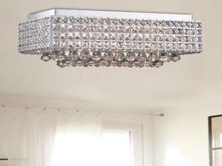 Echion 8 light Chrome Flush Mount  Retail 191 49