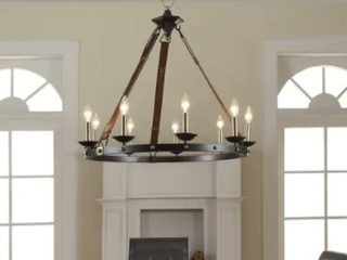 Carbon loft Cavalier 9 light Black Chandelier  Retail 263 99