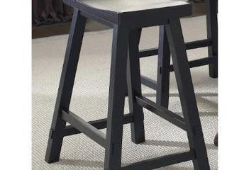 The Gray Barn Mendosa Black Sawhorse Bar Stool