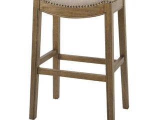 Brands NH100151 FBS WN Sadie 30 in  Bar Height Stool with Erin Cream Fabric   lightWire Brushed Natural
