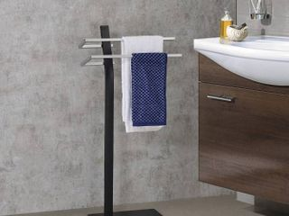 Towel Rack  Black   Glossy