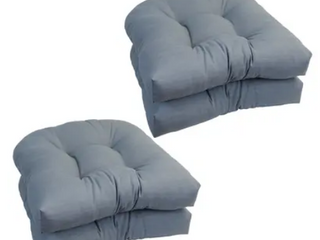 Cool Grey  Blazing Needles 19 inch U Shaped Chair Cushion  Set of 4    19 x 19  Retail 84 99