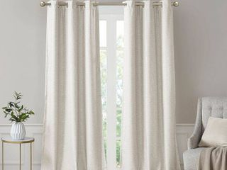 leighton Tonal Printed Faux Silk Total Blackout Window Panel Pair by SunSmart