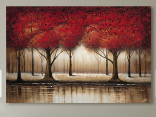 Copper Grove Cibola  Parade of Red Trees  Canvas Art  Retail 119 99