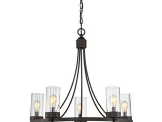 Trade Winds 5 light Circular Chandelier in Oil Rubbed Bronze