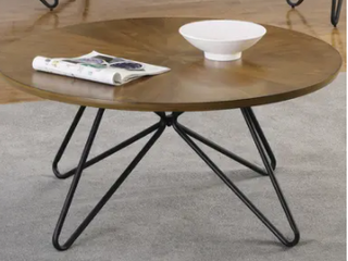 Carson Carrington Hjulslatt Dark Brown and Black Round End Table  Retail 121 99