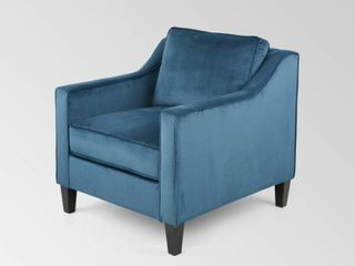 Milo Contemporary Velvet Club Chair by Christopher Knight Home   30 75  W x 33 50  l x 33 75  H  Retail 347 99