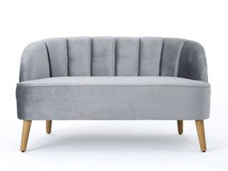 Amaia Modern Velvet loveseat Sofa by Christopher Knight Home  Retail 356 49