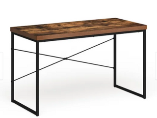 Carbon loft Kehlmann Black Metal and Wood Desk  Retail 112 99