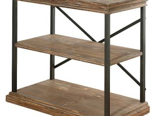 StyleCraft Archer Ridge 3 Tier Driftwood Grey Bookcase  Retail 219 99