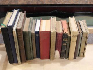 Vintage lot of 18 Hardcover Books   The Bible  Paradise lost  The Princess  Tinsmith s Helper