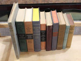 Vintage lot of 10 Hardcover Books   Oregon Trail  Trails to Treasure  last of Great Scouts etc
